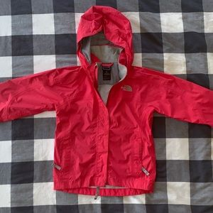 The North Face Girls Pink Hyvent Rain Jacket, XS/6